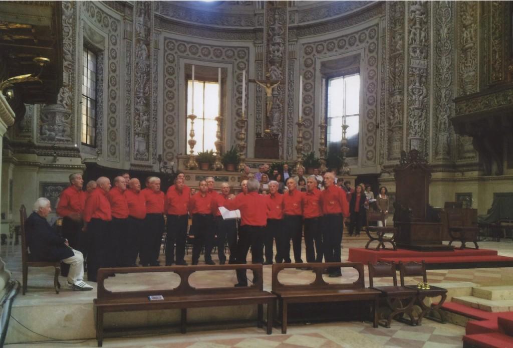 Il coro Monti Scarpazi a Mantova, basilica di sant'Agnese, 5 ottobre 2014